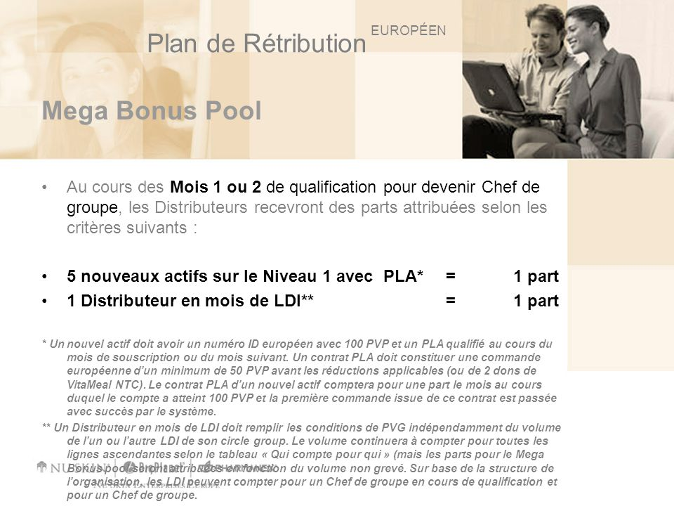 Plan de Rétribution Mega Bonus Pool