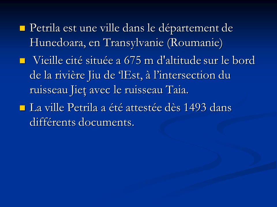 Petrila est une ville dans le département de Hunedoara, en Transylvanie (Roumanie)