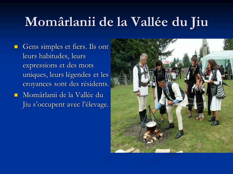 Momârlanii de la Vallée du Jiu