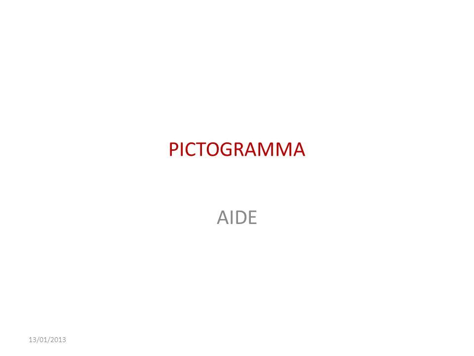 PICTOGRAMMA AIDE 13/01/2013