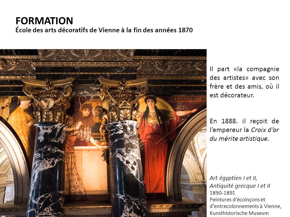 FORMATION École des arts décoratifs de Vienne à la fin des années 1870