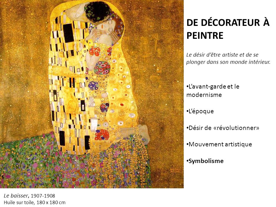Gustav klimt vienne autriche ppt video online t l charger for Peintre decorateur interieur