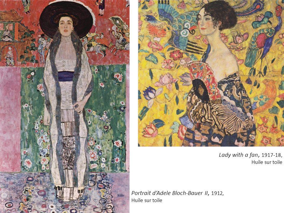 Portrait d'Adele Bloch-Bauer II, 1912, Huile sur toile