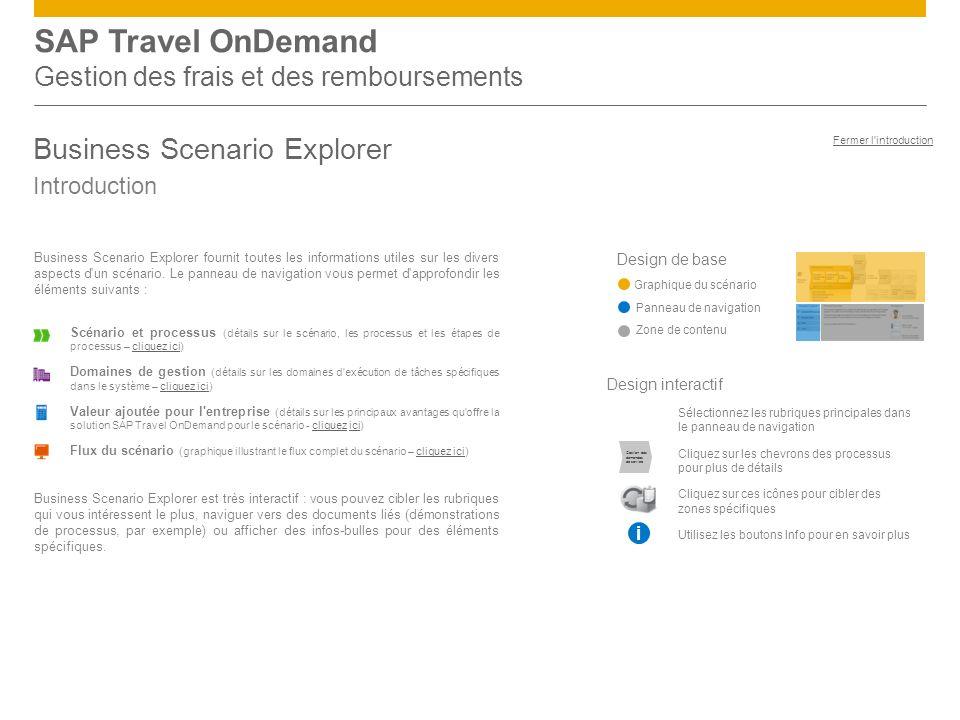 SAP Travel OnDemand Gestion des frais et des remboursements