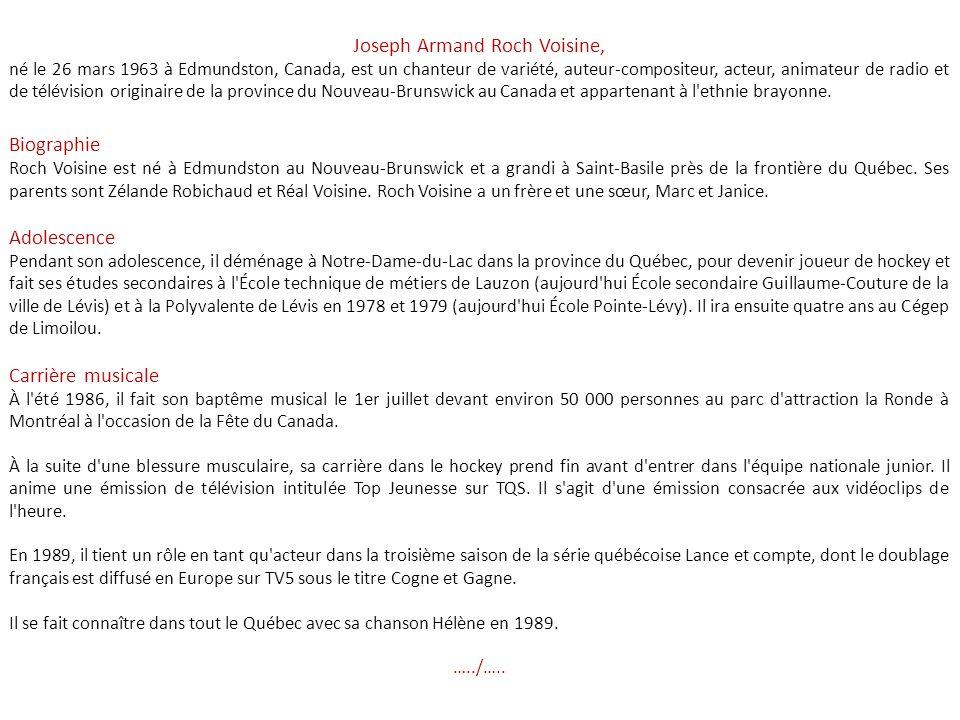 Joseph Armand Roch Voisine,