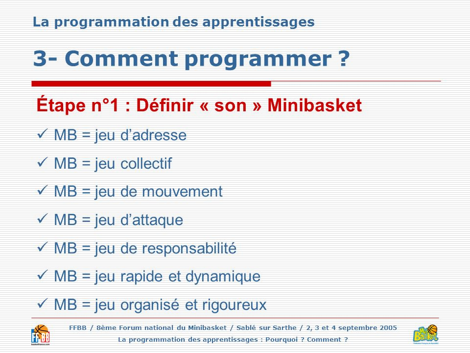 La programmation des apprentissages 3- Comment programmer