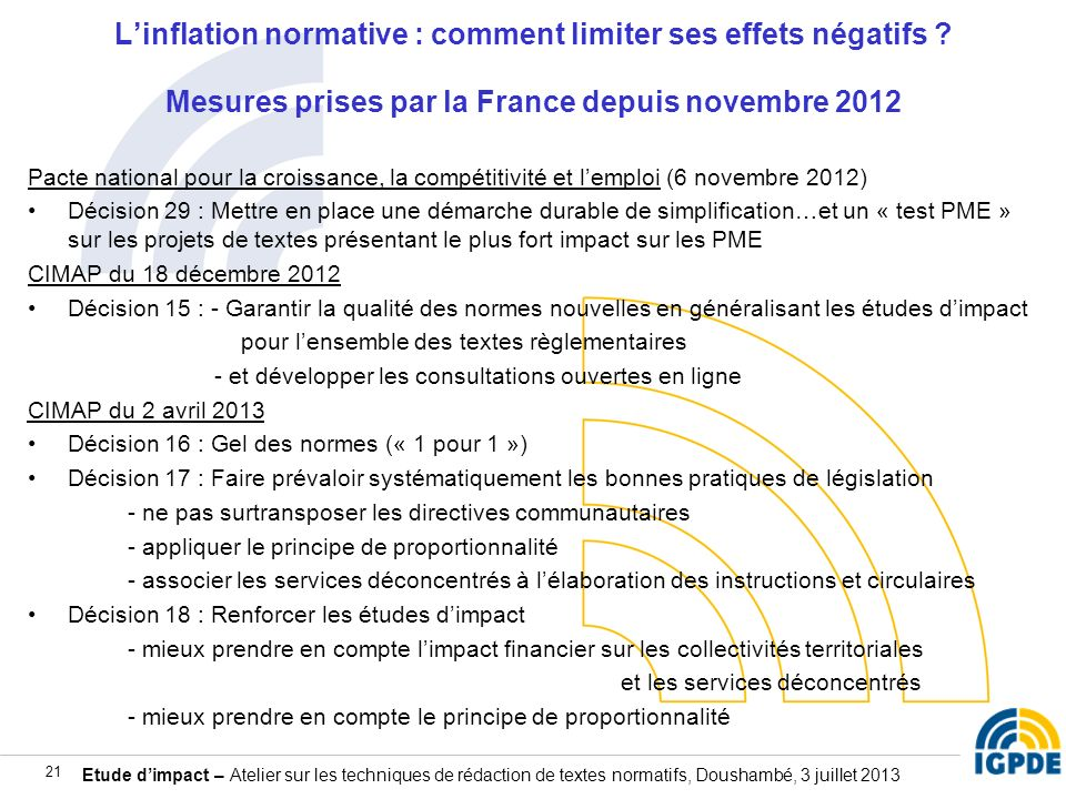 L'inflation normative : comment limiter ses effets négatifs