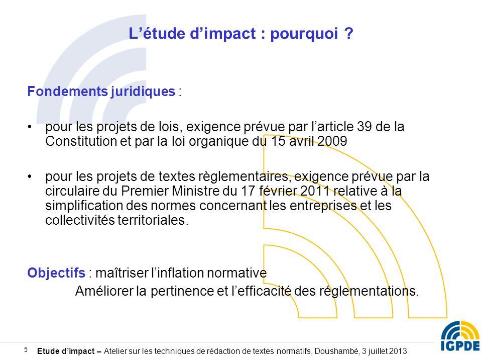L'étude d'impact : pourquoi
