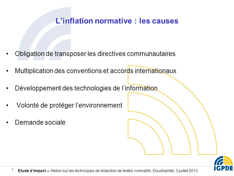 L'inflation normative : les causes