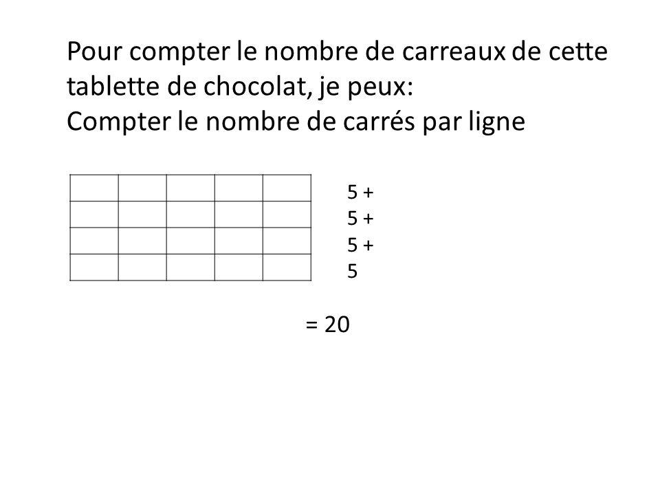 Compter le nombre de carrés par ligne