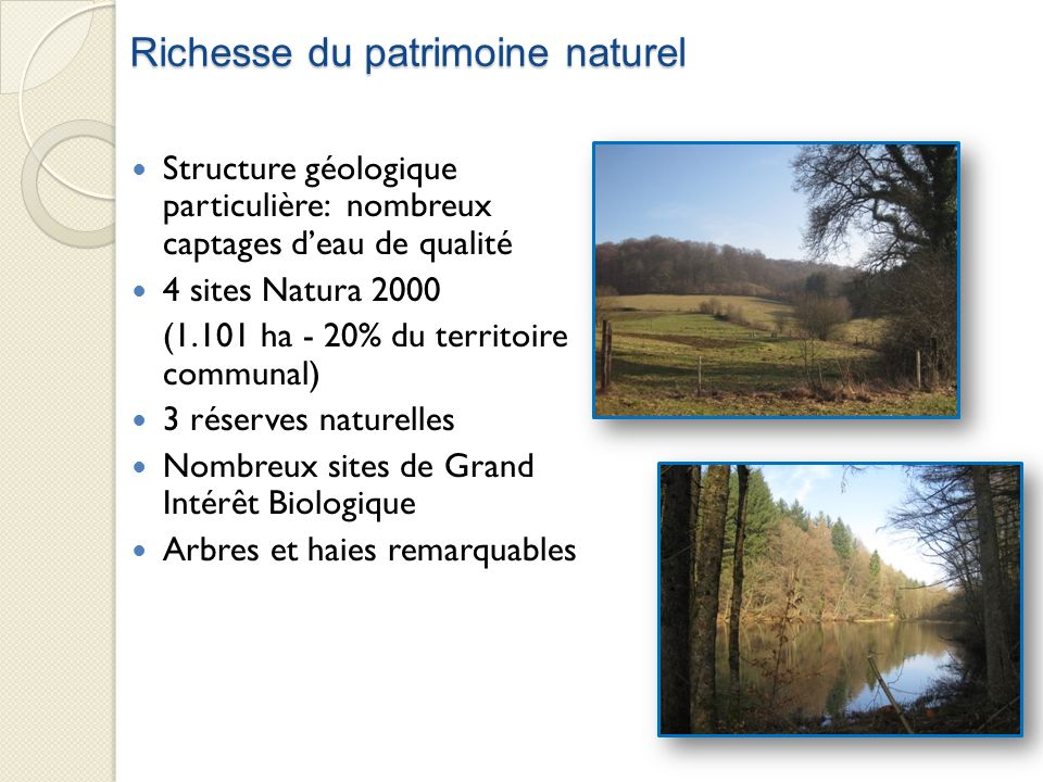 Richesse du patrimoine naturel