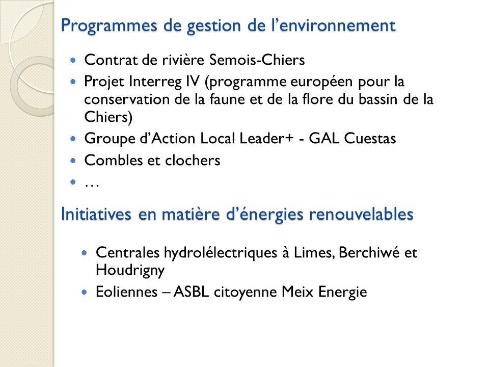Programmes de gestion de l'environnement