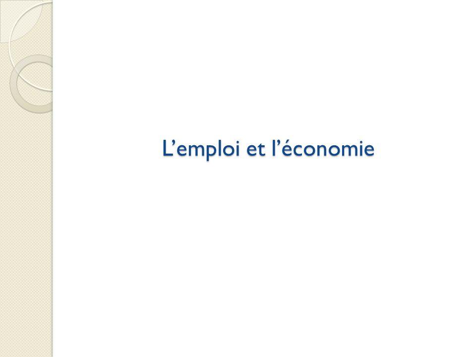 L'emploi et l'économie