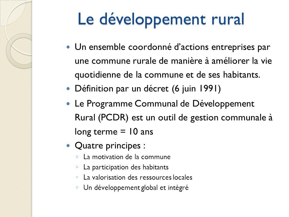 Le développement rural
