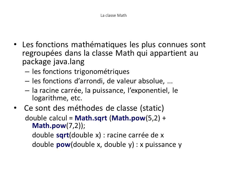 Ce sont des méthodes de classe (static)