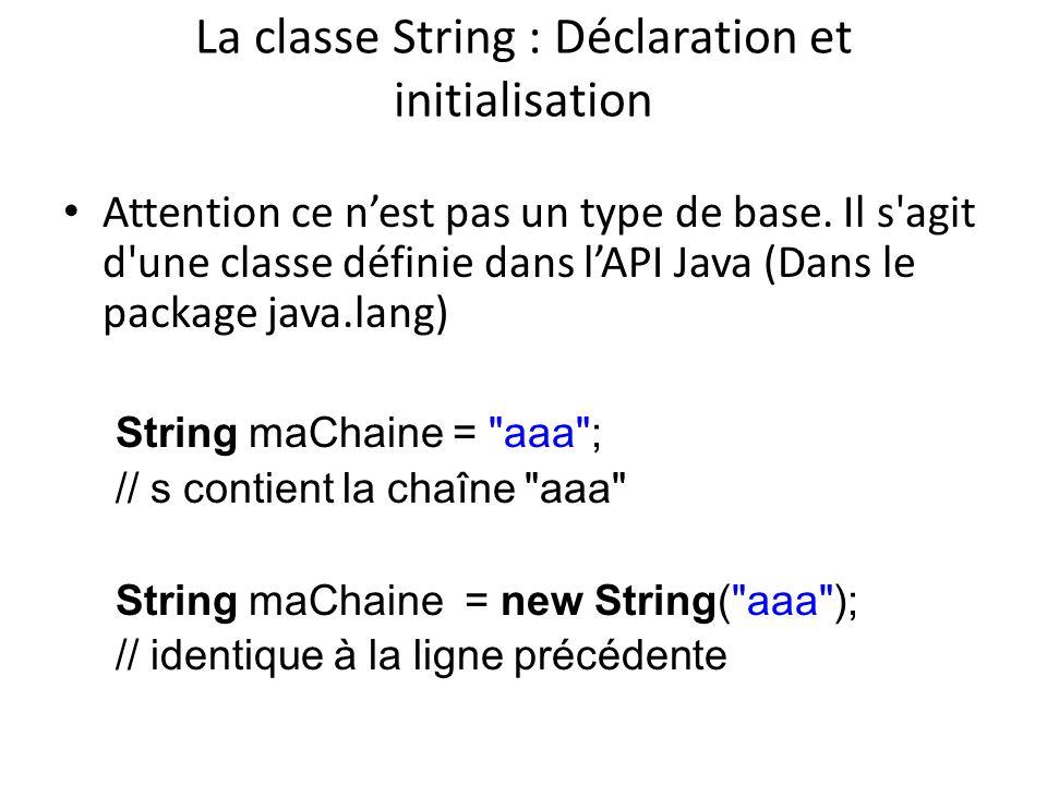 La classe String : Déclaration et initialisation