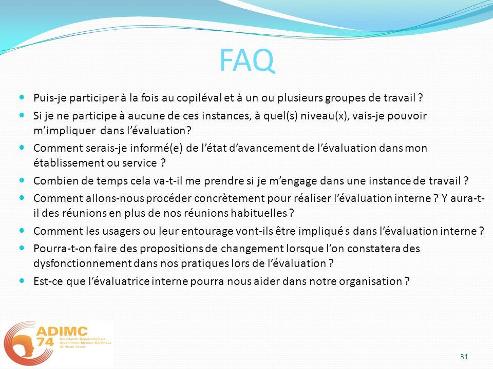 FAQ Puis-je participer à la fois au copiléval et à un ou plusieurs groupes de travail