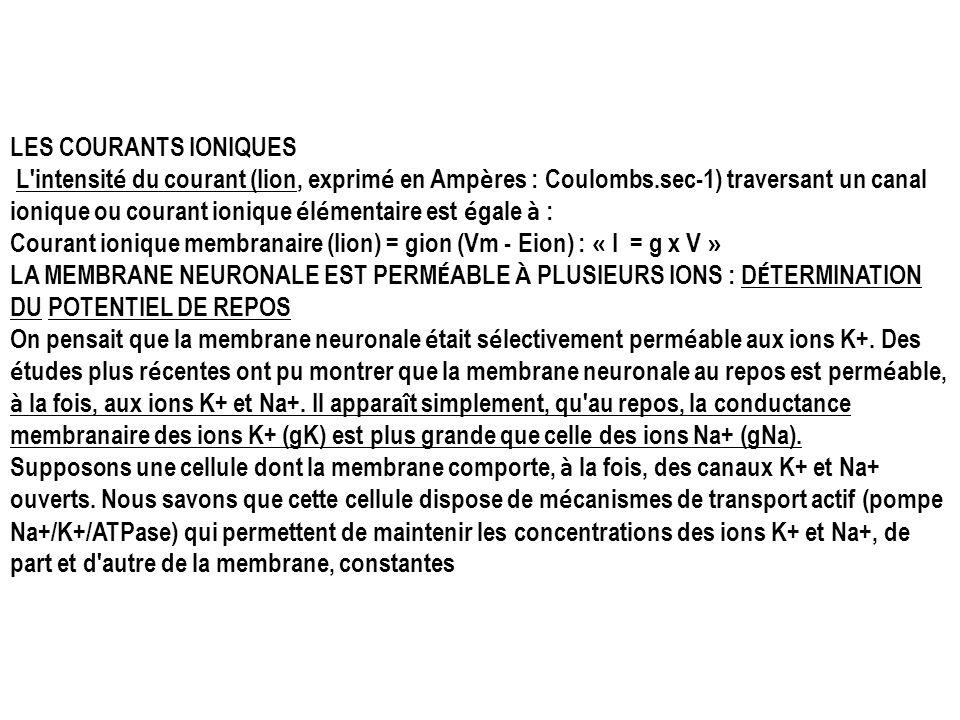LES COURANTS IONIQUES