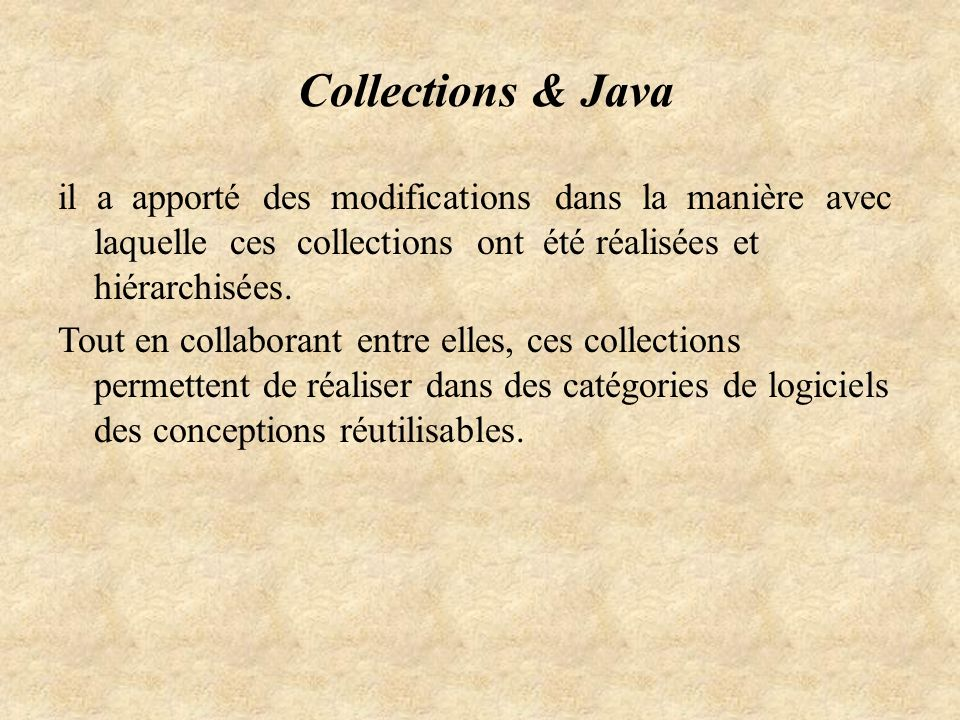 Collections & Java