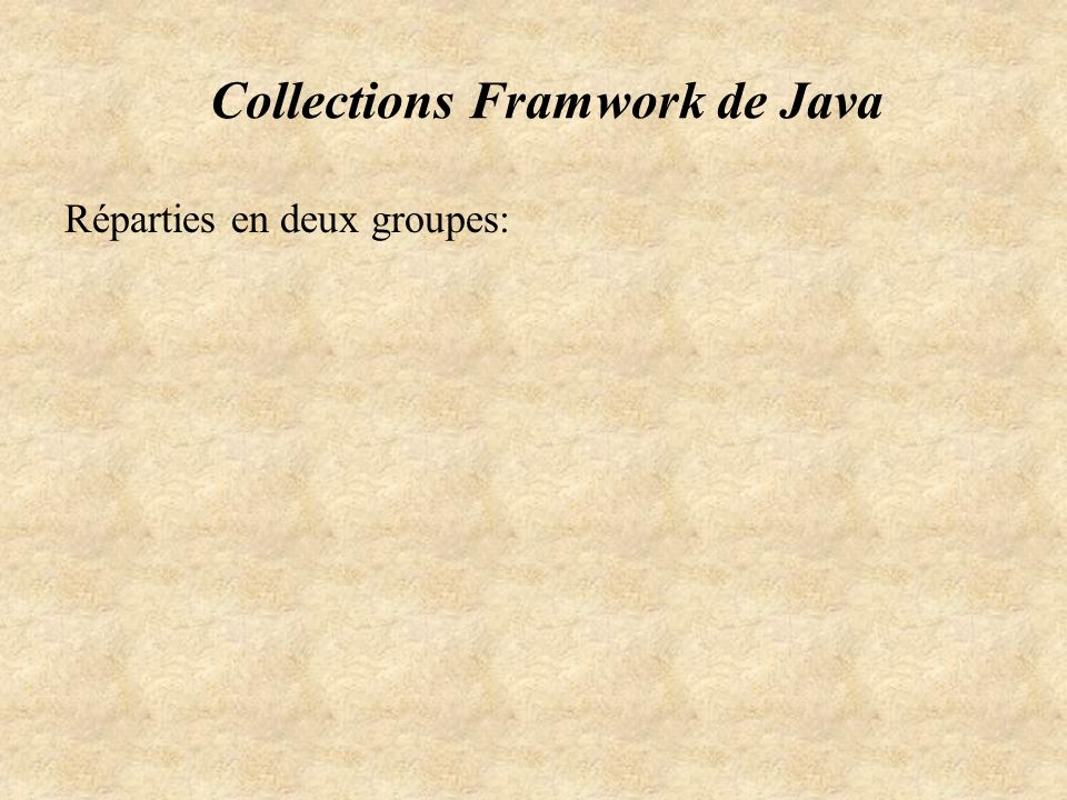 Collections Framwork de Java