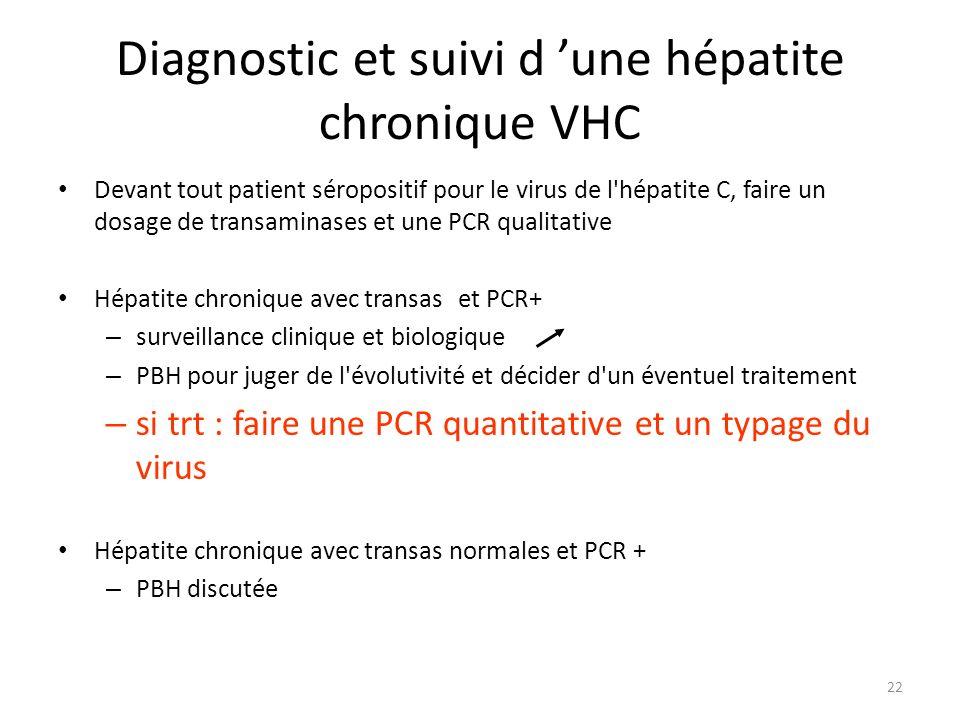Diagnostic et suivi d 'une hépatite chronique VHC