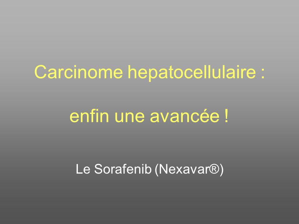Carcinome hepatocellulaire : enfin une avancée !