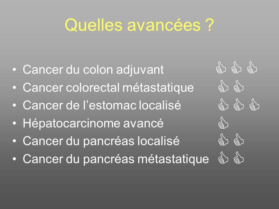              Quelles avancées Cancer du colon adjuvant