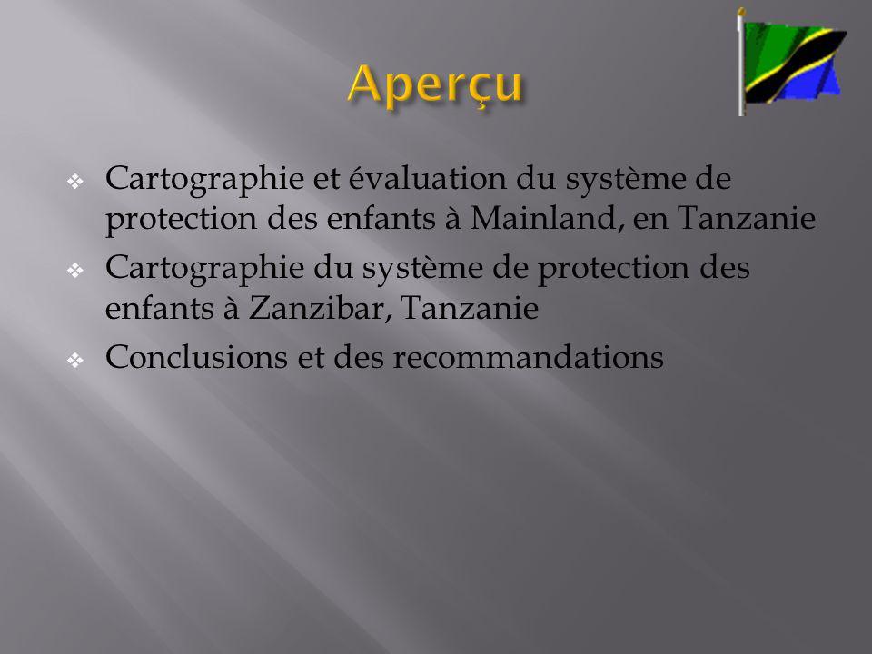 Aperçu Cartographie et évaluation du système de protection des enfants à Mainland, en Tanzanie.