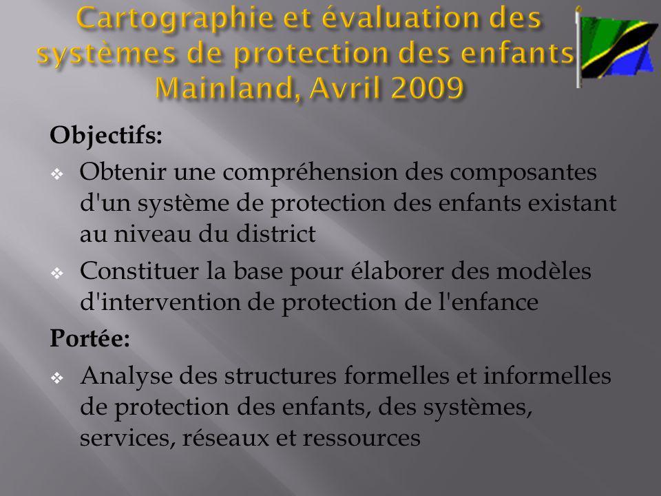 Cartographie et évaluation des systèmes de protection des enfants: Mainland, Avril 2009