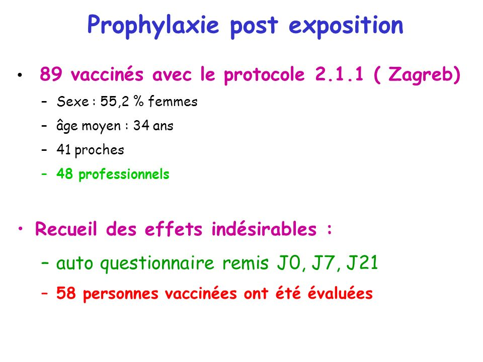 Prophylaxie post exposition