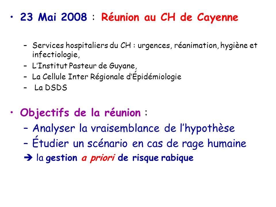 23 Mai 2008 : Réunion au CH de Cayenne
