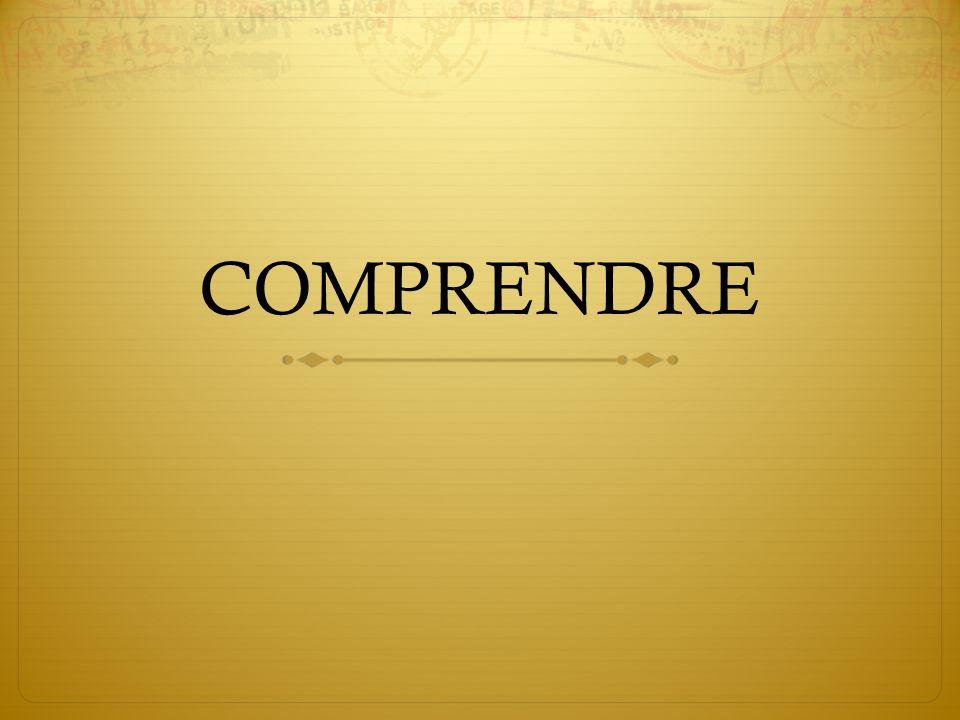 COMPRENDRE