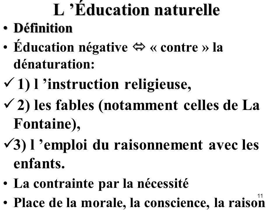 L 'Éducation naturelle