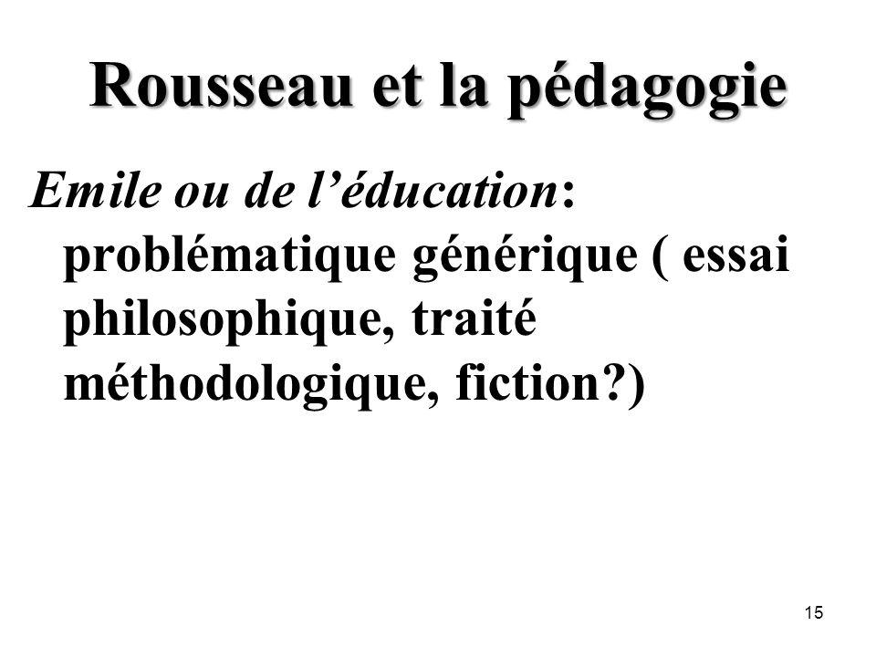 Rousseau et la pédagogie