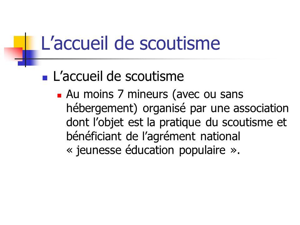 L'accueil de scoutisme