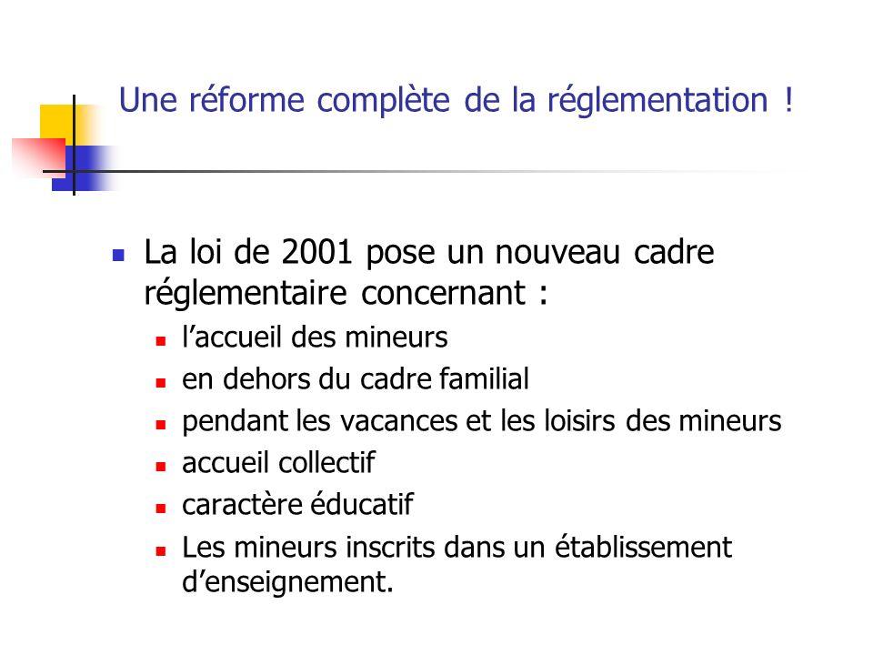Une réforme complète de la réglementation !