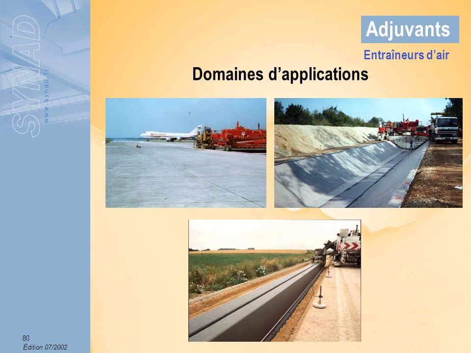 Domaines d'applications
