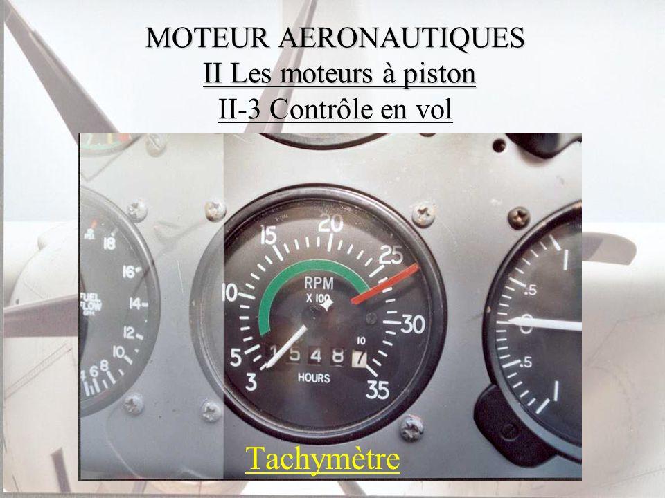 MOTEUR AERONAUTIQUES II Les moteurs à piston II-3 Contrôle en vol