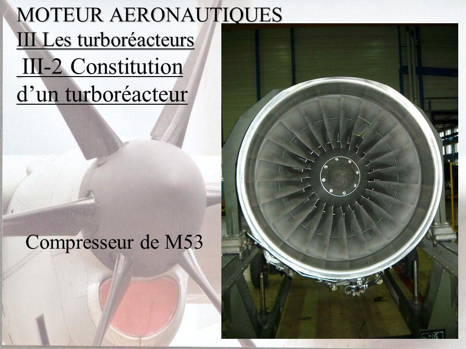 MOTEUR AERONAUTIQUES III Les turboréacteurs III-2 Constitution d'un turboréacteur