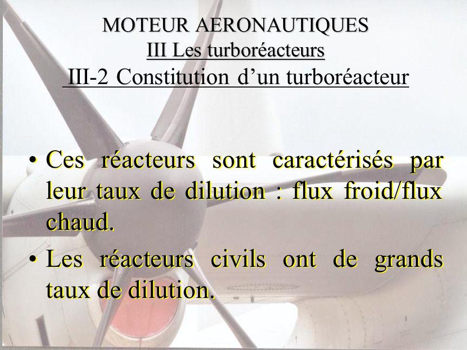 Les réacteurs civils ont de grands taux de dilution.