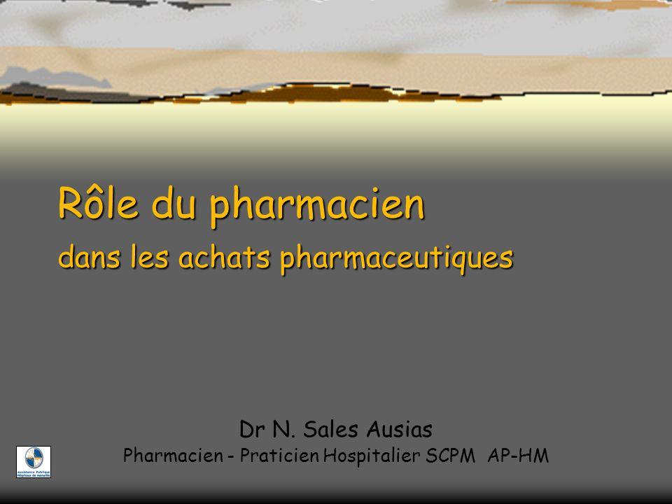 Rôle du pharmacien dans les achats pharmaceutiques