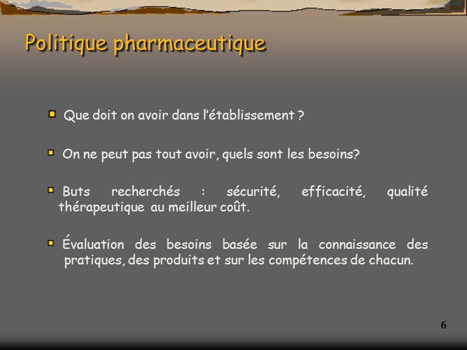 Politique pharmaceutique