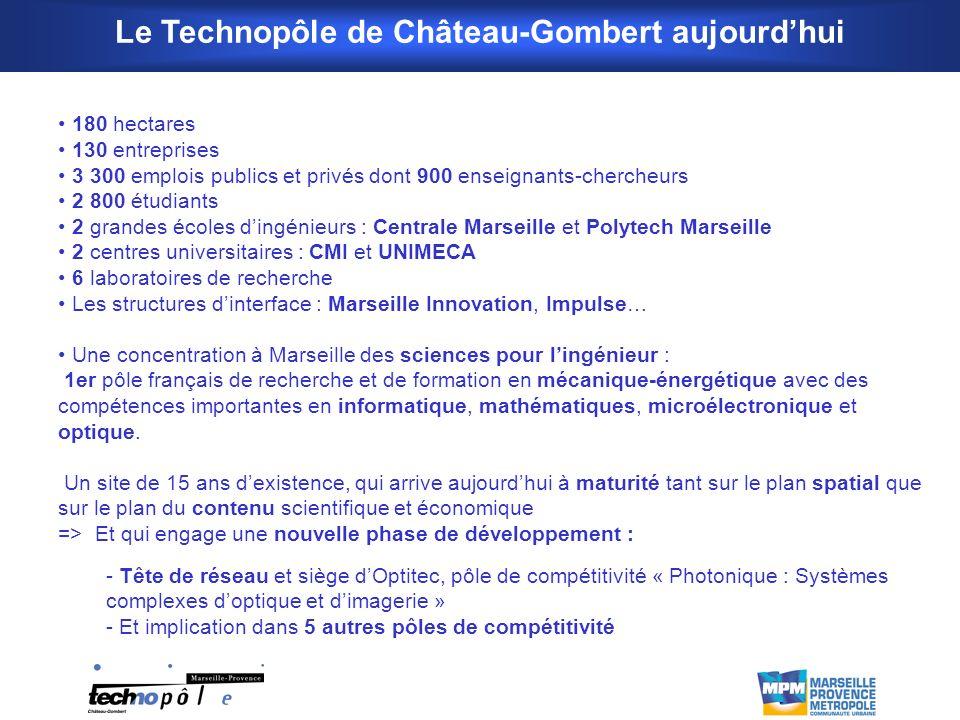 Le Technopôle de Château-Gombert aujourd'hui