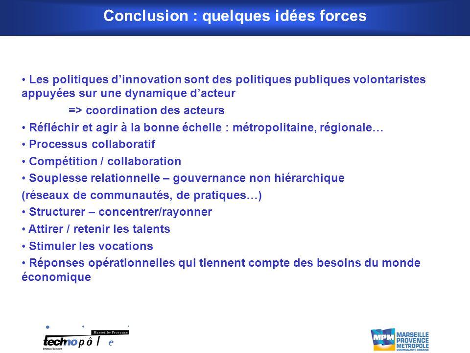 Conclusion : quelques idées forces