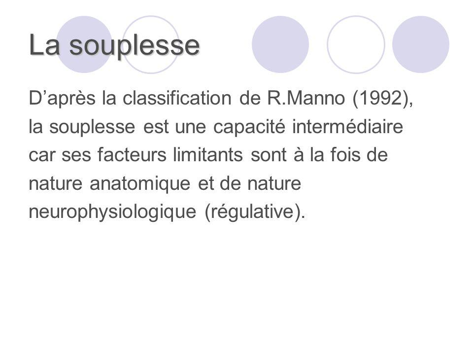 La souplesse D'après la classification de R.Manno (1992),