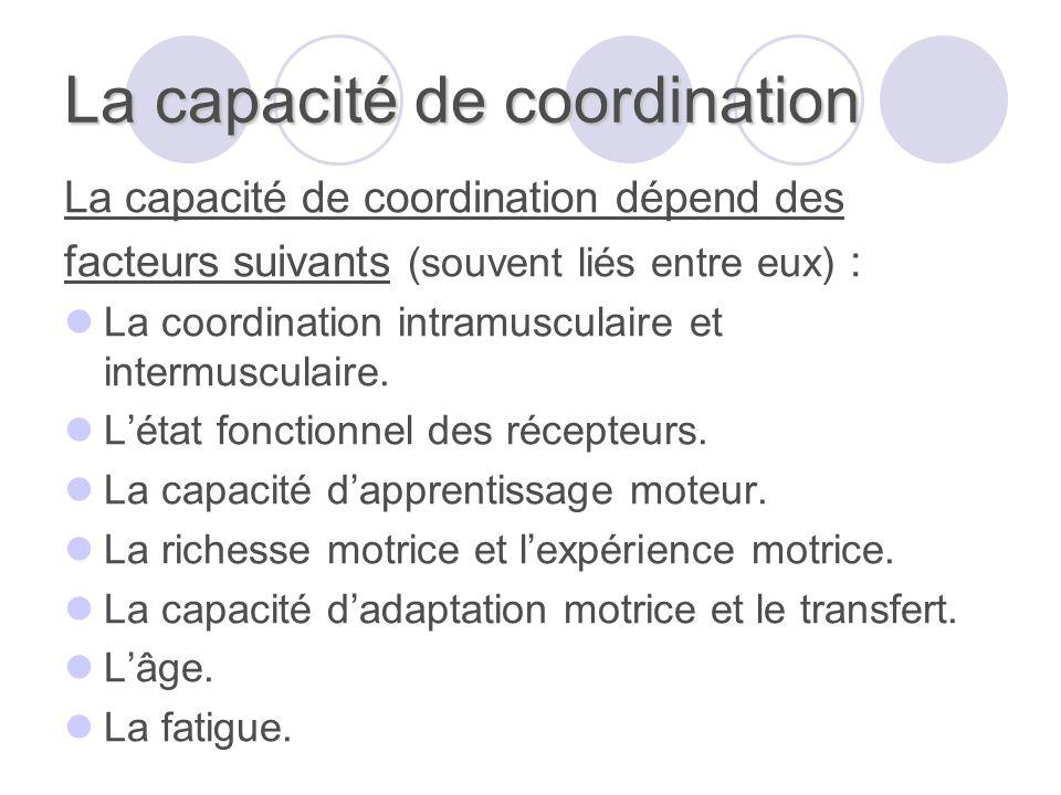 La capacité de coordination
