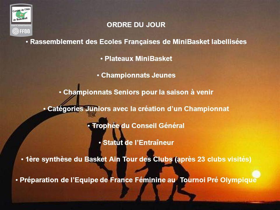 Rassemblement des Ecoles Françaises de MiniBasket labellisées