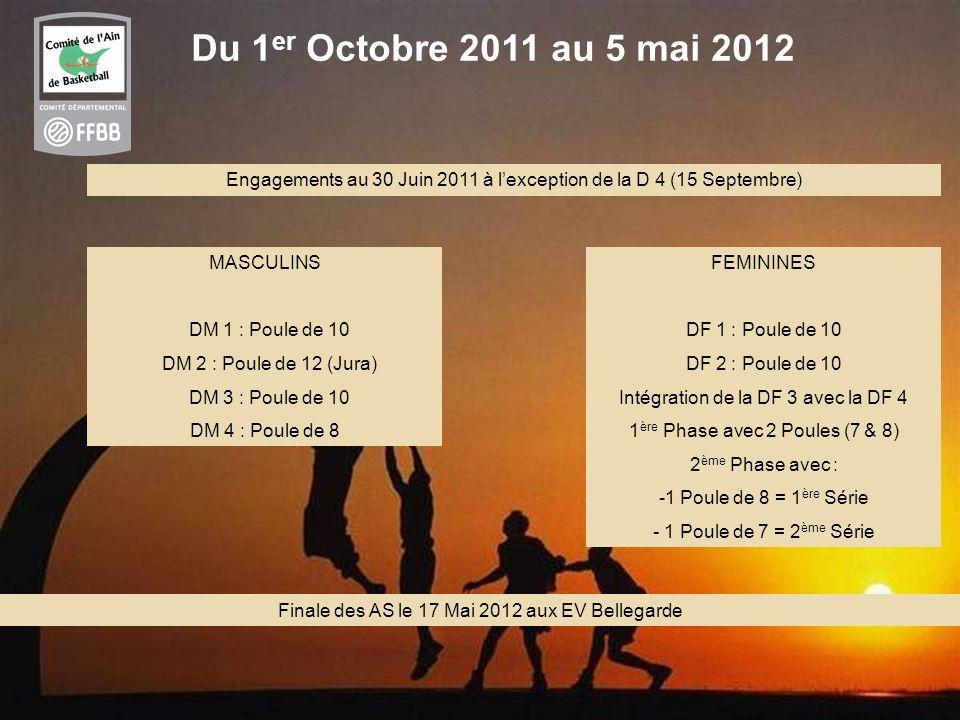 Du 1er Octobre 2011 au 5 mai 2012 Engagements au 30 Juin 2011 à l'exception de la D 4 (15 Septembre)