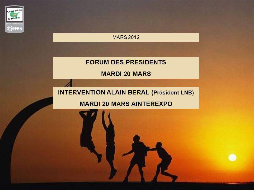 INTERVENTION ALAIN BERAL (Président LNB)