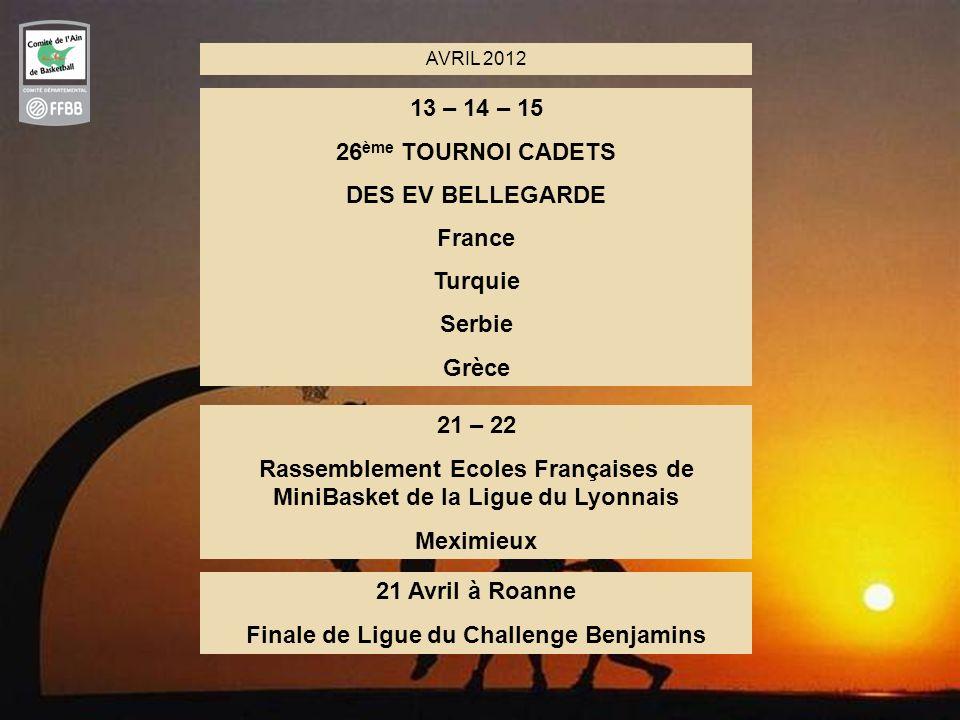 Rassemblement Ecoles Françaises de MiniBasket de la Ligue du Lyonnais
